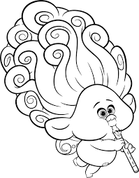 Trolls coloring pages contain all top characters, including branch. Hq Trolls Image Coloring Page Free Printable Coloring Pages For Kids