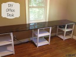 innovative diy desk ideas with diy 12 foot long double desk family roomplay room
