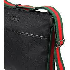 gucci bags mens. gucci black gg supreme messenger bag bags mens
