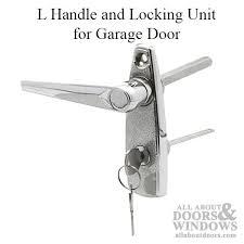garage door lock handleHandle and Locking Unit for Garage Door  Chrome