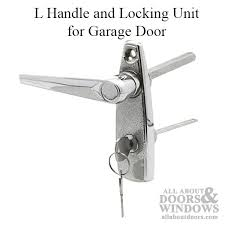 handle and locking unit for garage door chrome