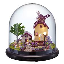 glass form furniture. furniture diy doll house wodden miniatura houses kit glass cover assemble dollhouse toys for children gift b19 form l