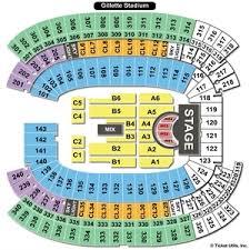 True Gillette Stadium Seating Chart For Kenny Chesney