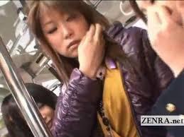 Japanese lesbian in public train