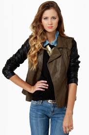 blank nyc it takes two tone vegan leather jacket