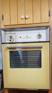 harvest gold yellow vintage retro built in wall oven stove unit gm frigidaire deluxe cookmaster for in garner nc offerup