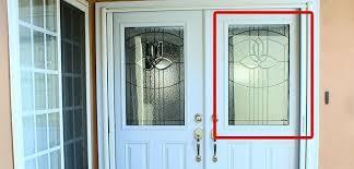 half lite glass inserts on entry door
