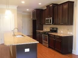 Kitchen With Lowered Bar Timberlake Scottsdale Cherry Java Cabinets Simple Kitchen Cabinets Scottsdale