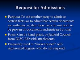 Judicial Council Form Complaint Amazing Introduction To Written Discovery Ppt Video Online Download