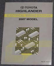 2007 highlander service manual 2007 toyota highlander electrical wiring diagram service manual