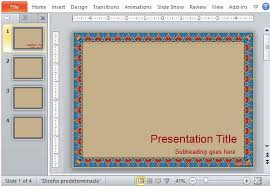 tile like design with intricate border detail fppt microsoft powerpoint how to add