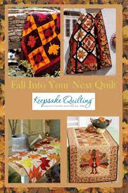 Make your next fall quilt a beauty with cozy quilt fabrics for ... & Make your next fall quilt a beauty with cozy quilt fabrics for table top  quilts, Adamdwight.com