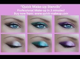smokey cat eye tutorial with quick make up stencils