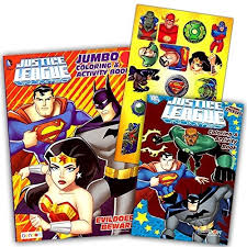 Superman is saving a woman and a child. Dc Comics Justice League Coloring And Activity Book Set Two 96 Page Books Batman Superman Wonder Woman Green Lantern The Flash Aquaman And Cyborg Wish