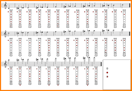 Treble Recorder Note Chart 8 Alto Recorder Fingering Chart Aplication Format With