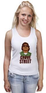 <b>Майка классическая</b> GROVE <b>STREET</b> 4 LIFE #1001435 от 7SWɅG ...