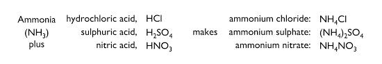 let s summarise ammonia neutralisation
