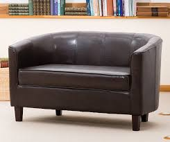 sofa collection brand new 2 seat tub chair sofa seating faux leather brown 66 x 118 x 71 cm co uk kitchen home