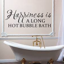 Bath Quotes happiness is along hot bubble bath quotes black wall stickers for 99