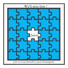 Farewell Invites For Colleagues Missing Piece Farewell Party Invitations Zazzle Com