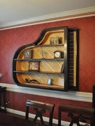 Mahogany Baby Grand Piano Bookcase Brillant