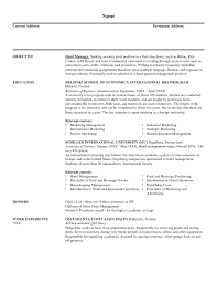 Catering Resume Sample Free Download Catering Sales Manager Resume