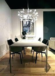 height of chandelier over dining room table light