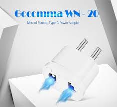 <b>gocomma WN</b> - <b>20</b> EU Standard Wall Charge Socket Power Adapter ...