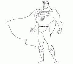 Ao lado da imagem, há uma aquarela com muitas cores. Superman Easy Coloring Pages Coloring Home