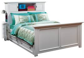 Belmar White 4 Pc Full Bookcase Bed w Trundle - Trundle Beds Colors