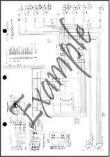 1985 ford mustang mercury capri foldout wiring diagram electrical schematic 85