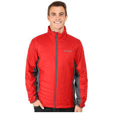 columbia mens red jacket rocket graphite mighty light hybrid coat color
