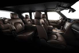 2018 infiniti qx80 interior. contemporary qx80 on the hauling front qx80 can swallow 166 cubic feet of stuff behind  its third row 496 cubes with row folded and a healthy 95  in 2018 infiniti qx80 interior