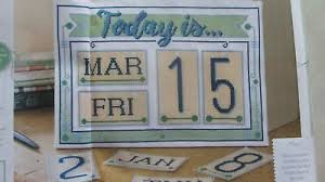 Vintage Leisure Arts Perpetual Calendar Counted Cross Stitch