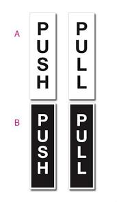 push pull door signs