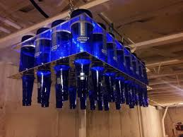picture of diy beer bottle chandelier