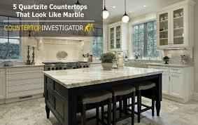 5 quartzite countertops that look like marble