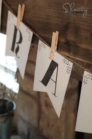 Free Printable <b>Letter Banners</b> - Shanty 2 Chic