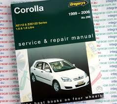 Toyota Corolla 1999 2006 Gregorys Service Repair Manual - workshop ...