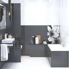 Badezimmer Grau Weiß Holz Wohn Design