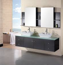 wall mount bathroom cabinet. Bathroom Cabinets Double Sink. Design Element Portland 72\\u2033 Sink \\u2013 Wall Mount Cabinet