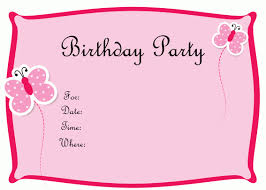 Birthday Invitation Card Templates Free Download Girl Birthday Invitation Card Template Free Download 12