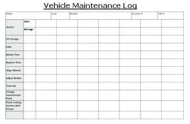 Auto Maintenance Logs Monthly Landscape Maintenance Schedule Vehicle Log Book