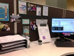 decorating office cubicle. White Table Top Design Ideas With Brown Wall Also Art Painting For Contemporary Cubicle Decorations Decorating Office L