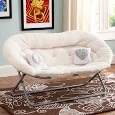 Delighful Chairs For Teen Bedrooms Would Love This Naps Sherpa Double Chair Throughout Models Design