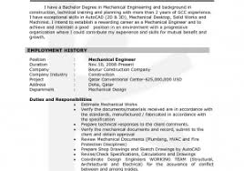 Mechanical Engineer Resume Sample Free For You 10 Entry Level