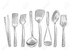 kitchen utensils vector. Kitchen Utensils Isolated On White Background. Vector Illustration Stock - 51823216