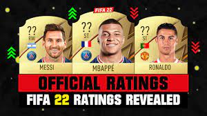 FIFA 22   OFFICIAL FIFA 22 RATINGS REVEALED! 😱🔥 ft. Mbappe, Messi,  Ronaldo… etc - YouTube
