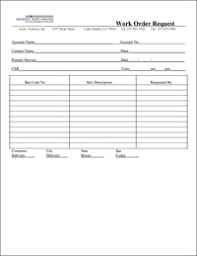 request for order form forms