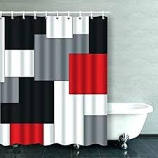 buffalo check shower curtains red